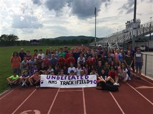 2017 Track Team celebrates an undefeated season!