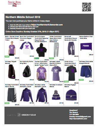 NMS Spiritwear options