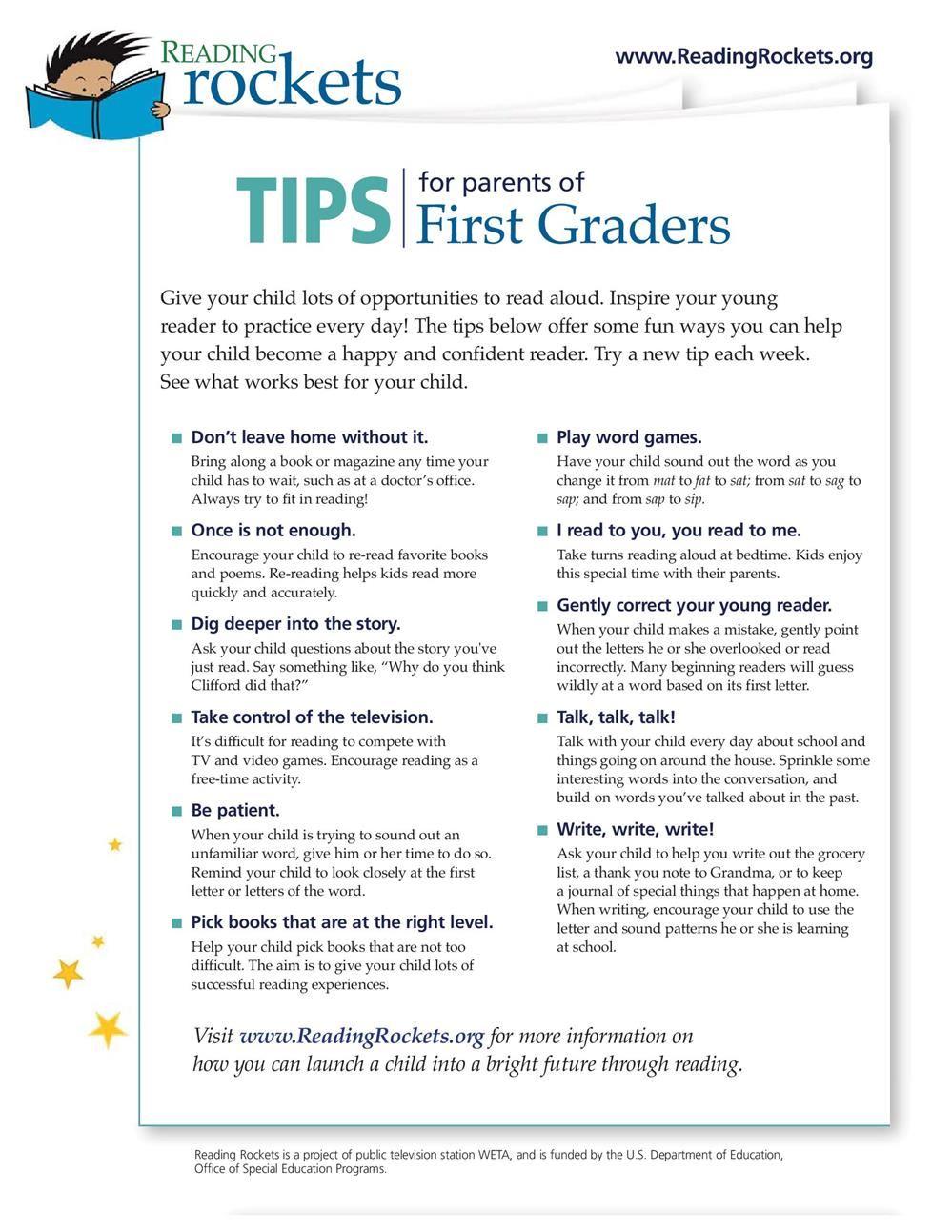 Mrs  Brubaker's Site / Tips for Reading at Home