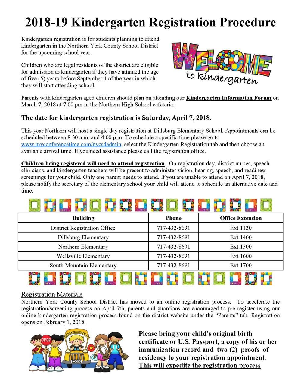 preschool registration process northern elementary nes homepage 701