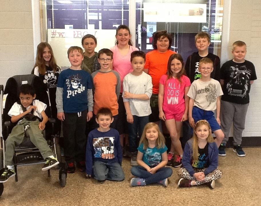 Wellsville Elementary School April Bear Cub Awards