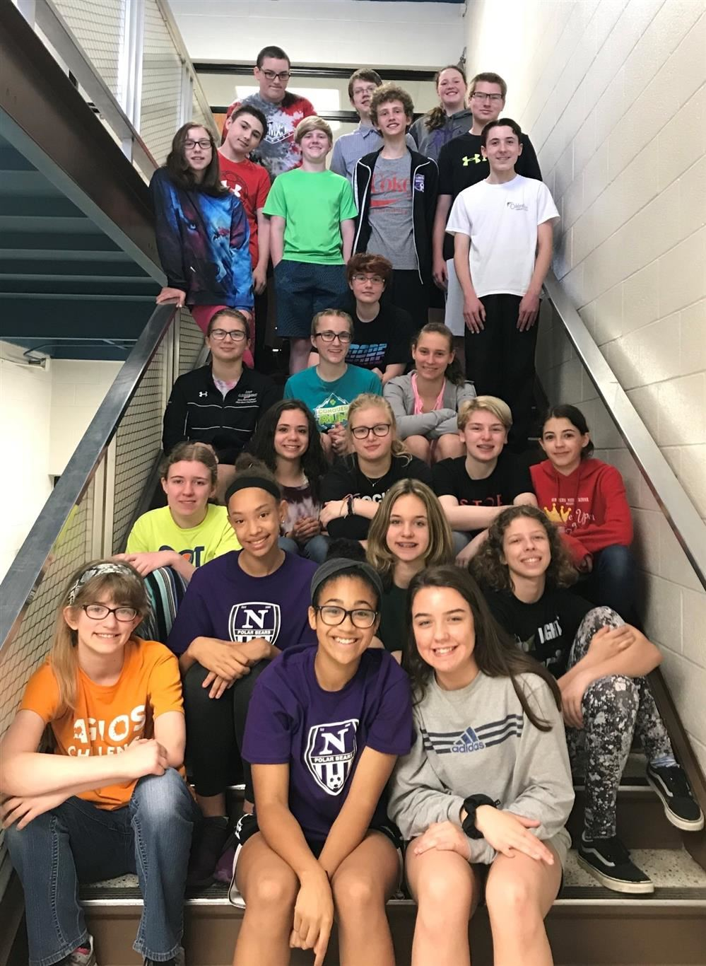 Northern Middle School Students Participate in National French Exam