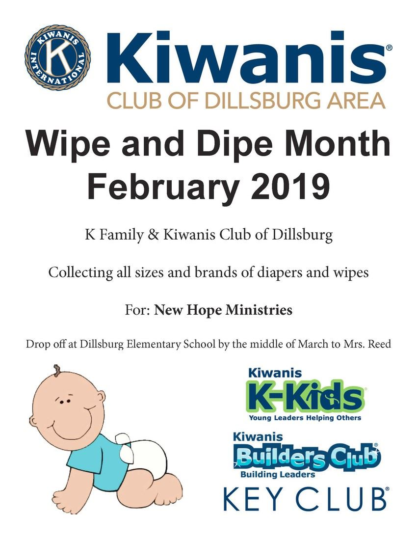 Kiwanis Wipe and Dipe Month