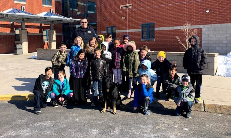 Police Dog Visits South Mountain Elementary